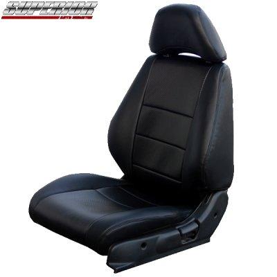 画像1: ブラックカーボンルックシートカバー 180SX RPS13